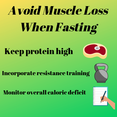 does intermittent fasting cause muscle loss